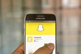 Snapchat app on Samsung S7